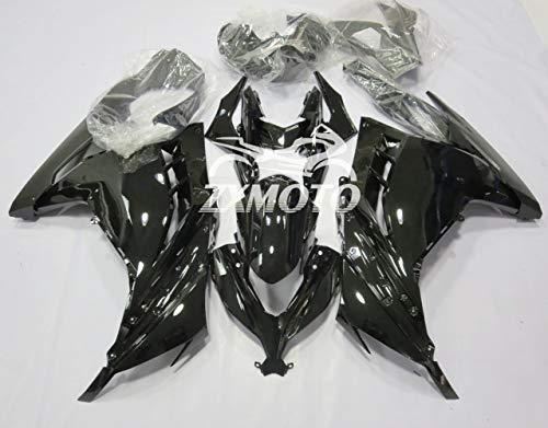 ZXMOTO Painted Motorcycle Bodywork Fairing Kit for Kawasaki Ninja 300 EX300 EX300A EX300B 2013-2017 2014 2015 2016 Glossy Black Pieceskit 17