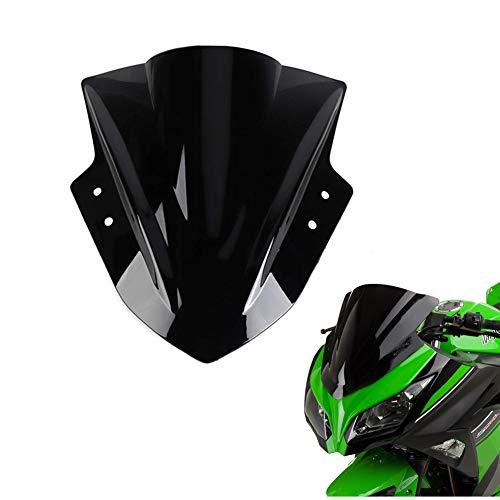 kemimoto Windshield Windscreen Fits Kawasaki Ninja 300 EX300 2013 2014 2015 2016 2017 2018 Black