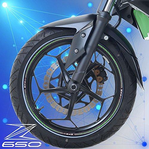 PRO-KODASKIN 2D Emblem Sticker Decal Wheel Rim for Kawasaki Z650