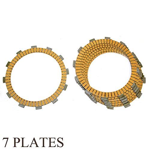 Caltric FRICTION CLUTCH PLATE Fits KAWASAKI 600 KL600 KL-600 KLR600 KLR-600 1984-1986 7-PLATES