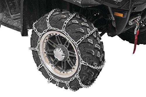 1988 Kawasaki 450 Mule 1000 - Front Rear Snow Chains 4 Chains - Tire Sizes 22x11x10 22x11x10