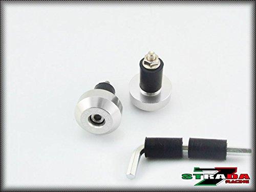 Strada 7 Racing CNC Handle Bar Ends Green For Kawasaki ZX9