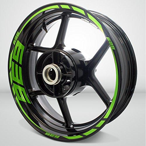 Gloss Light Green Motorcycle Rim Wheel Decal Accessory Sticker for Kawasaki Ninja 636