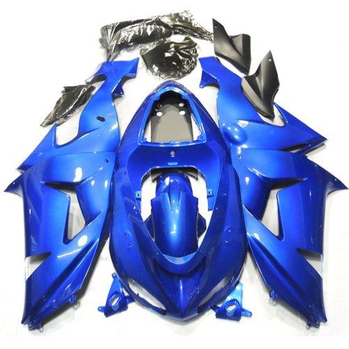 ZXMOTO K0605 ABS Plastic Motorcycle Bodywork Fairing Kit for Kawasaki Ninja 636 ZX-6R 2005-2006 Blue - Pieceskit 21