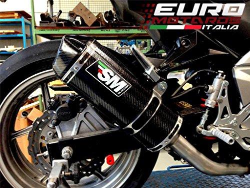 Kawasaki Z750 2007-2009 Silmotor Exhaust Carbon Slipon Silencer Road Legal