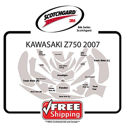 Kit for Kawasaki Z750 2007 - 2012 - 3M 846 Series Scotchgard Paint Protection