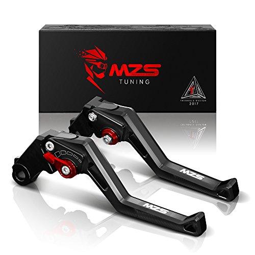 MZS Adjustment Brake Clutch Levers for Kawasaki Z750 not Z750S model 2007-2012Z800E Version 2013-2016 Black