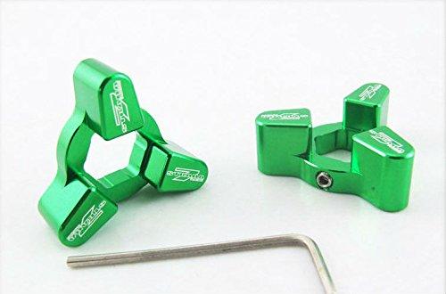 Strada 7 14mm Front Fork CNC Preload Adjusters Kawasaki Z750 2007 - 2009 Green