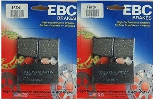 EBC Kevlar Organic Front Brake Pads 2 Sets for Both Calipers 1995-2002 Kawasaki ZX600 Ninja ZX-6R  FA158