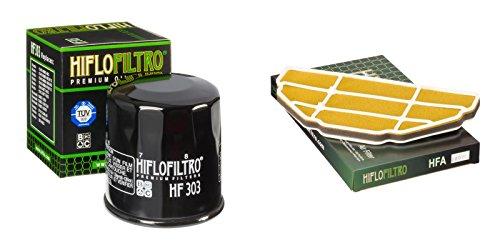 Oil and Air Filter Kit for KAWASAKI ZX600 J1-J2 ZX6-R Ninja 00-01 HIFLO FILTRO