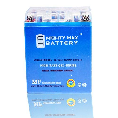 YTX14AH 12V 12AH GEL Battery for Kawasaki 360 KVF360 Prairie 2009-2012 - Mighty Max Battery brand product