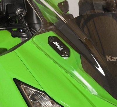R&G Racing MBP0014BK Mirror Block Offs For 2013 Kawasaki Zx-6R 636 Ninja 250R300R
