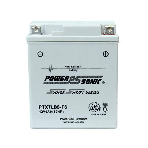 Power-Sonic PTX7LBS-FS 12V 6AH Battery Replacement for Kawasaki GPX R 250 95-01