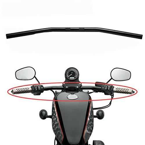 INNOGLOW 1PC Aluminum Alloy 705cm Wide Drag Bar Handlebar Fit Bobber Brat Cafe Chopper Custom Motorcycles 982-2014 Harley Sportster Big Twin Models