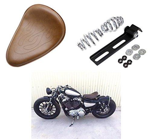 Bobber Solo Seat Bracket Spring Mount Kit Flame Barrel Spring For Harley Honda Yamaha Kawasaki