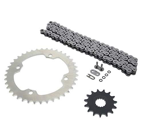 Cycle ATV O Ring Chain Sprocket Silver 1540 520-104L fits Yamaha - YFZ450 450R 450 - YFM700R 700R 700 Raptor