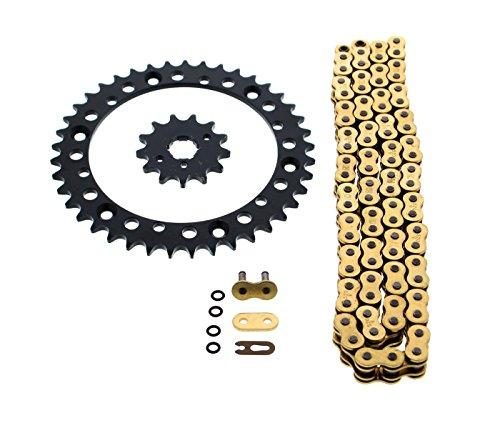 Gold O Ring Chain Sprocket Black 1340 98L Yamaha YFM350 Warrior 350