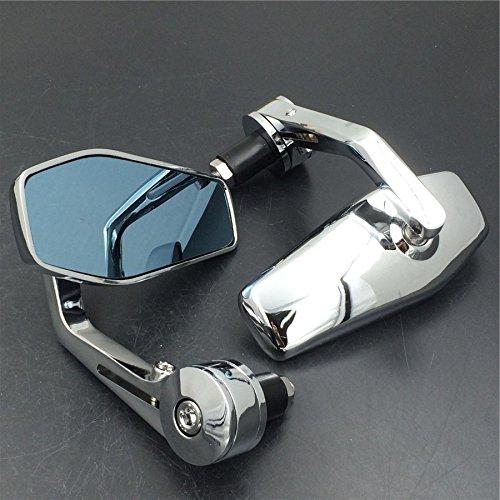 Chrome Bar End Mirrors fit for Honda Suzuki Kawasaki Yamaha Harley for any 78 or 1 diameter Handle