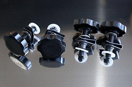 Black 1996-2013 HDsmallPARTS LocEzy for Harley-Davidson Saddlebag Mounting Hardware Bolts KnobsSecurity Theft DeterrentLocksfastening