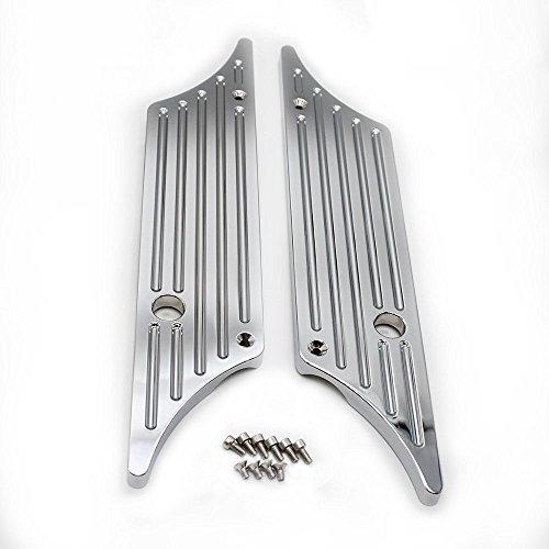 XKH- Triple Chrome CNC Machined Hard Billet Aluminium Saddlebag Latch Covers For Harley Davidson Touring Models Hard Bags 1993-2013