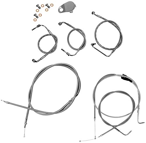 LA Choppers Stainless Steel CableBrake Kit Line Kit for Mini Ape Hangers