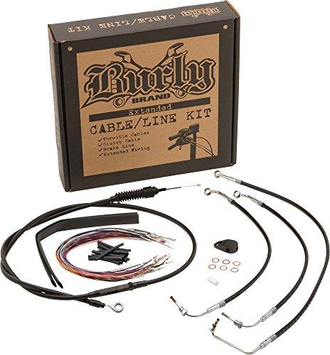 Burly Brand Black 12 Ape Hanger CableBrake Kit