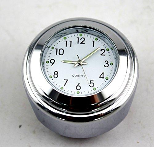 AR DONGFANG Motorcycle 78 1 Motorcycle Handlebar Chrome White Dial Clock for Harley Honda