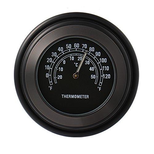 XCSOURCE 78 1 Motorcycle Handlebar Chrome Black Dial Thermometer for Universal Harley Honda Suzuki Yamaha MA544