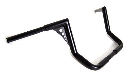 El Diablo Black 12 Rise Ape Hangers 1-14 Diameter Handlebars for Harley Dressers Baggers FLHT FLHTC Motorcycles