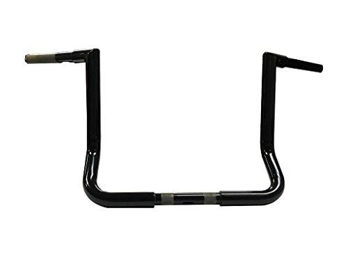 JMC Cycle - 13 Gloss Black Jmc Cycles Double Up Batwing Bagger Ape Hangers - 42895