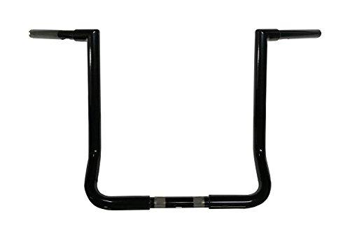 JMC Cycle - 16 Gloss Black Jmc Cycles Double Up Batwing Bagger Ape Hangers - 42918