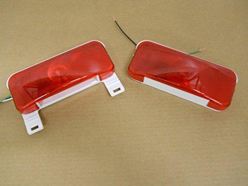 2 RV Camper Trailer Stop Turn Brake Tail Lights  License Light  White Base