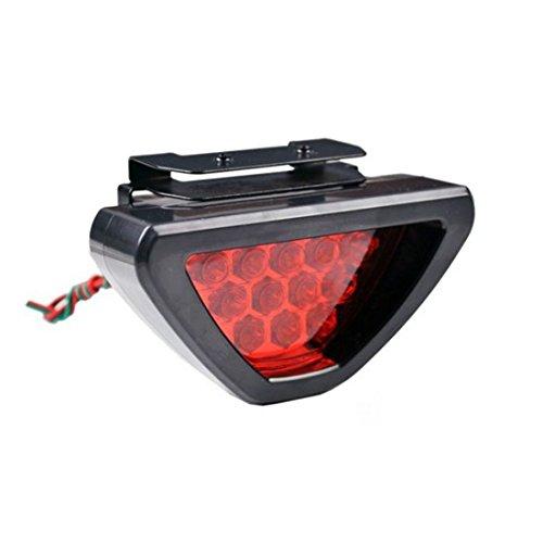 Bestpriceam Universal F1 Style Auto Car ATV SUV 12v LED Stop Fog Tail Brake Light Lamp Red