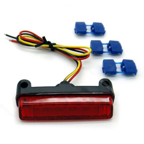 Universal CRF250X CRF450X Mini LED Rear Tail Brake Light Indicator - RED