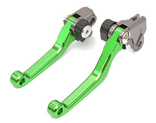 Yonglong Green CNC Pivot Brake Clutch Levers for Kawasaki KX65 00-16  KX85 01-16  KX125 00-05  KX250 00-04