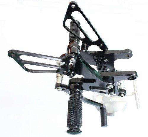 Black Motorcycle Cnc Racing Rear Sets Rearsets Pegs Fit For Kawasaki Zx6r Ninja 2005 2006 2007 2008