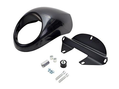 TMS Cafe Drag Headlight Fairing Custom Visor For Harley Sportster Dyna FXXL Fork