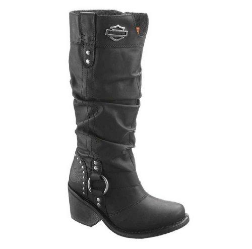 Harley-Davidson Womens Jana Black Boots 13-Inch Shaft 3-Inch Heels D83562 Size 9