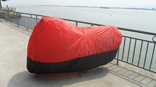 Black Red XXL Kawasaki Vulcan 1500 Classic Motorcycle Cover 96-08