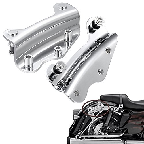 Chrome Sissy Bar 4 Point Docking Hardware Kit Luggage Rack For Harley Touring Road Electra Street Glide 2009-2013