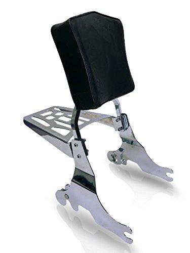 Harley Davidson 04-up Sportster Detachable Sissy Bar Backrest Pad 9 X 6 Luggage Rack Combo