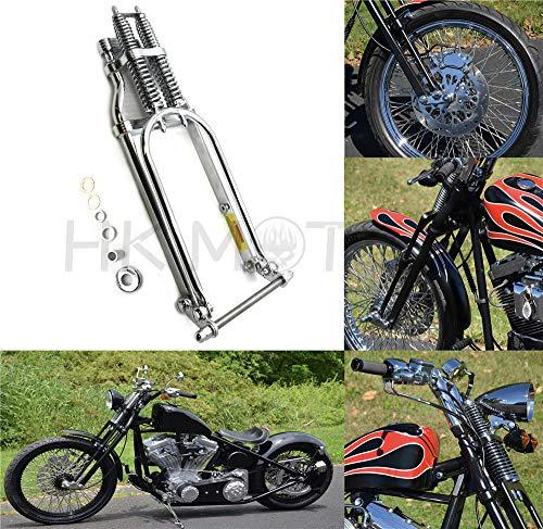 HONGK- 20 2 Under Chrome Springer Front End With Axle kit Compatible with Harley Chopper Bobber Arched B07MMSQHLK