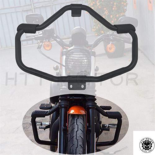 HTTMT Front Crash Bar Protection Compatible with 2005-2016 Harley Davidson Sportster Safety Bar Matte Black PN MT504-002-BK
