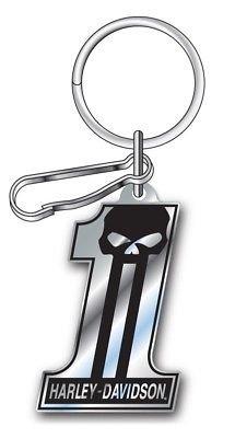Harley-Davidson 1 Skull Enamel Key Chain