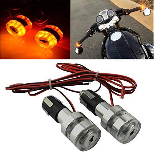 Handlebar Motorcycle Parts Blinker Amber LED Handle Bar End Indicator Grip 78 LED Turn Signal Light Lamp For Universal Suzuki Honda Ymaha Kawasaki