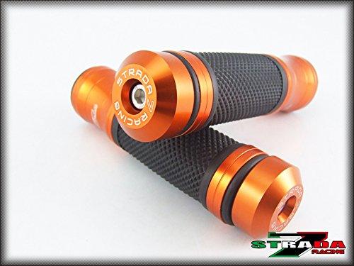 Strada 7 Racing CNC Aluminum Hand Grips And Bar Ends Combo Orange For Honda CBR600RR
