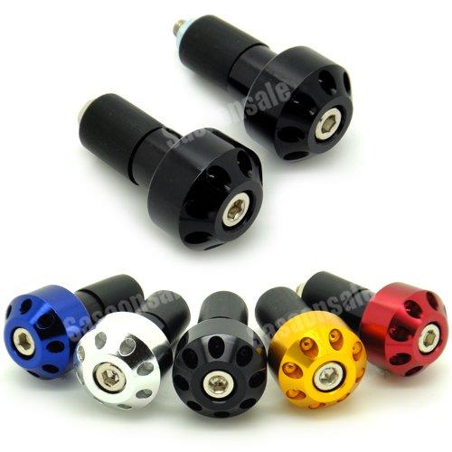 MIT Motors - BLACK - CNC Anodized Bar Ends - Suzuki GSXR 600 750 1100 1300 KATANA SV650 SV1000 TL1000R BANDIT 600 1200 GSX 650F HAYABUSA