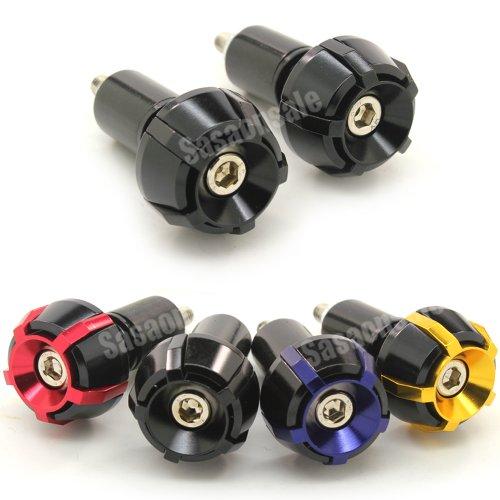 MIT Motors - BLACK - SP2 CNC Bar Ends - Suzuki GSXR 600 750 1100 1300 KATANA SV650 SV1000 TL1000R BANDIT 600 1200 GSX 650F HAYABUSA