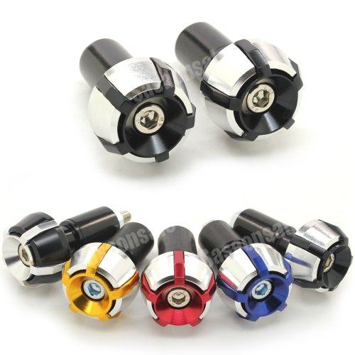 MIT Motors - BLACK - SPOKE CNC Bar Ends - Suzuki GSXR 600 750 1100 1300 KATANA SV650 SV1000 TL1000R BANDIT 600 1200 GSX 650F HAYABUSA
