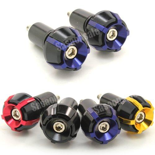 MIT Motors - BLUE - SP2 CNC Bar Ends - Suzuki GSXR 600 750 1100 1300 KATANA SV650 SV1000 TL1000R BANDIT 600 1200 GSX 650F HAYABUSA